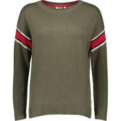 Swetry oversize damskie: Sweter w kolorze khaki