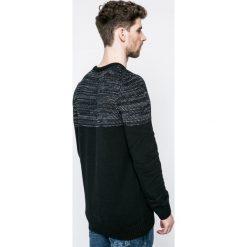 Blend - Sweter. Czarne swetry klasyczne męskie Blend, l, z bawełny, z okrągłym kołnierzem. W wyprzedaży za 69,90 zł.