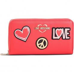 Duży Portfel Damski LOVE MOSCHINO - JC5604PP17LJ0500  Rosso. Czerwone portfele damskie Love Moschino, ze skóry ekologicznej. Za 429,00 zł.