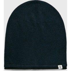 Tom Tailor Denim - Czapka. Czarne czapki zimowe męskie TOM TAILOR DENIM, na zimę, z bawełny. W wyprzedaży za 59,90 zł.
