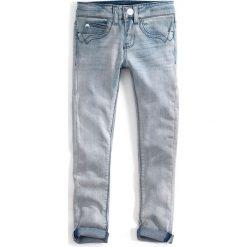 Dżinsy slim 3-14 lat. Szare jeansy dziewczęce marki bonprix, z bawełny. Za 232,01 zł.