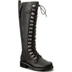 Kozaki JENNY FAIRY - WS17378 Czarny. Czarne buty zimowe damskie Jenny Fairy, ze skóry ekologicznej, przed kolano, na wysokim obcasie, na obcasie. Za 199,99 zł.