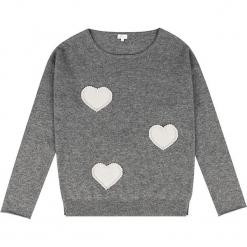Sweter kaszmirowy w kolorze szarym. Szare swetry klasyczne damskie marki Ateliers de la Maille, z kaszmiru, z dekoltem w łódkę. W wyprzedaży za 545,95 zł.