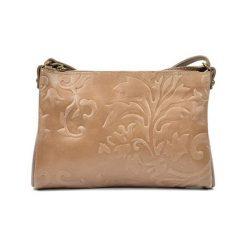 Torebki i plecaki damskie: Skórzana torebka w kolorze fango – (S)24 x (W)18 x (G)2 cm