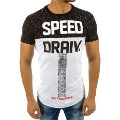 T-shirty męskie z nadrukiem: T-shirt męski z nadrukiem czarny (rx2196)