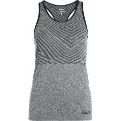 Craft COOL COMFORT SHE RACERBACK SINGLET  Koszulka sportowa black melange. Czarne t-shirty damskie Craft, xs, z materiału. Za 129,00 zł.