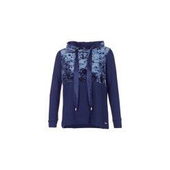 Bluzy Only  VELVET. Szare bluzy damskie marki ONLY, s, z bawełny, casualowe, z okrągłym kołnierzem. Za 134,30 zł.
