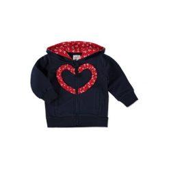 Pink or blue  Bluza z kapturem marine - niebieski. Niebieskie bluzy niemowlęce marki pink or blue, z bawełny, z kapturem. Za 44,00 zł.
