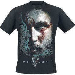 Vikings Ragnar Face T-Shirt czarny. Czarne t-shirty męskie z nadrukiem Vikings, m, z okrągłym kołnierzem. Za 79,90 zł.