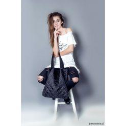 Torba basic czarne pikowanie. Czarne torebki klasyczne damskie Pakamera, pikowane. Za 95,00 zł.