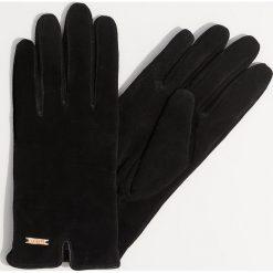 Skórzane rękawiczki - Czarny. Czarne rękawiczki damskie Mohito. Za 69,99 zł.