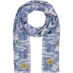"""Chusty damskie: Chusta """"Patches"""" w kolorze niebieskim – 200 x 100 cm"""