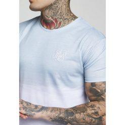 T-shirty męskie z nadrukiem: SIKSILK CURVED WASH OUT TEE Tshirt z nadrukiem powder blue