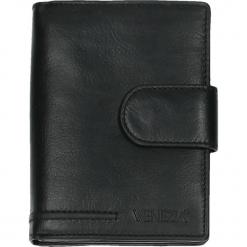 Portfel męski - 708117 BL J18. Czarne portfele męskie Venezia, ze skóry. Za 189,00 zł.