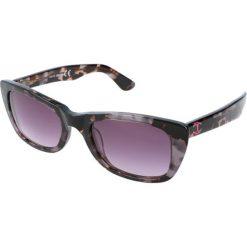 """Okulary przeciwsłoneczne damskie aviatory: Okulary przeciwsłoneczne """"JC491S 55B"""" w kolorze czarno-fioletowym"""