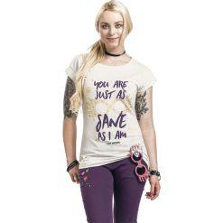Harry Potter Luna Lovegood - Just As Sane As I Am Koszulka damska melanż kremowy. Białe bluzki asymetryczne Harry Potter, xl, melanż, z okrągłym kołnierzem. Za 99,90 zł.