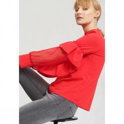 Czerwona Bluzka Think Pink. Czerwone bluzki longsleeves marki other, uniwersalny. Za 69,99 zł.
