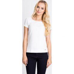 Bluzki damskie: Biała strukturalna bluzka QUIOSQUE