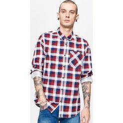 Koszula w kratę - Czerwony. Czerwone koszule męskie marki Cropp, l. Za 79,99 zł.