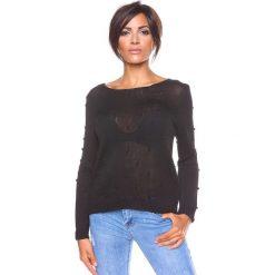 """Swetry klasyczne damskie: Sweter """"Charly"""" w kolorze czarnym"""