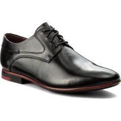 Półbuty LASOCKI FOR MEN - MB-REAL-10 Czarny. Czarne buty wizytowe męskie Lasocki For Men, z materiału. Za 189,99 zł.