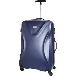 Walizka w kolorze granatowym - 32 l. Niebieskie walizki Platinium, z materiału. W wyprzedaży za 219,95 zł.