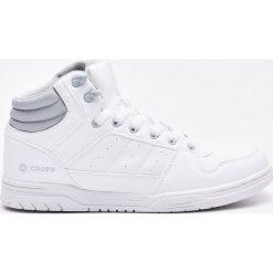 Sportowe buty za kostkę - Biały. Czarne halówki męskie marki Kazar, z nubiku, przed kolano, na wysokim obcasie. Za 139,99 zł.