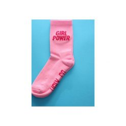 Skarpetki damskie: UGLY Skarpetki UGLY GIRL POWER /Różowe