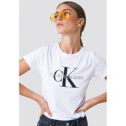 Bluzki, topy, tuniki: Calvin Klein T-shirt Core Monogram Logo - White