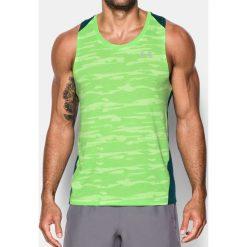 Under Armour Koszulka męska THREADBORNE RUN MESH SINGLET zielona r. L (1299528-752). Szare koszulki sportowe męskie marki Under Armour, z elastanu, sportowe. Za 109,45 zł.