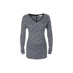 Esprit  Bluzka z długim rękawem dla kobiet w ciąży black aop - czarny. Czarne bluzki asymetryczne Esprit, z elastanu, moda ciążowa, z długim rękawem. Za 155,00 zł.