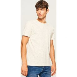 T-shirty męskie: T-shirt z melanżowej dzianiny - Beżowy