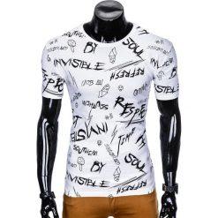 T-SHIRT MĘSKI Z NADRUKIEM S961 - BIAŁY. Szare t-shirty męskie z nadrukiem marki Lacoste, z gumy, na sznurówki, thinsulate. Za 29,00 zł.