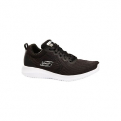 Buty damskie do szybkiego marszu Ultra Flex w kolorze czarnym. Czarne buty do fitnessu damskie marki Skechers. W wyprzedaży za 149,99 zł.