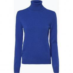 Franco Callegari - Sweter damski z czystego kaszmiru, niebieski. Zielone swetry klasyczne damskie marki Franco Callegari, z napisami. Za 579,95 zł.