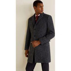 Mango Man - Płaszcz Utahant. Czarne płaszcze na zamek męskie Mango Man, l, z materiału, klasyczne. Za 549,90 zł.