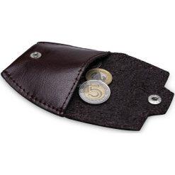 Skórzana bilonówka, portfel na monety SOLIER S BORDO ELISE. Czerwone portfele męskie marki Solier, z materiału. Za 39,00 zł.