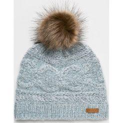 Barts - Czapka. Szare czapki zimowe damskie marki Barts, na zimę, z dzianiny. Za 149,90 zł.