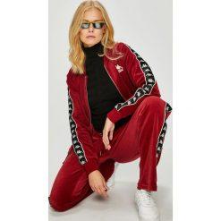 Kappa - Bluza. Szare bluzy z kieszeniami damskie marki Kappa, l, z bawełny, bez kaptura. W wyprzedaży za 219,90 zł.