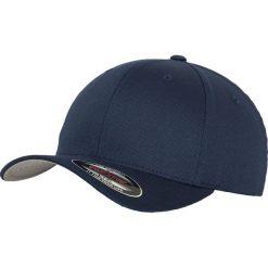 Flexfit Wooly Combed Czapka Flexcap granatowy. Niebieskie czapki z daszkiem damskie Flexfit, z elastanu. Za 62,90 zł.