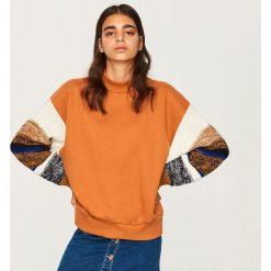 Bluza z ozdobnymi rękawami - Wielobarwn. Szare bluzy damskie Reserved, l. Za 119,99 zł.