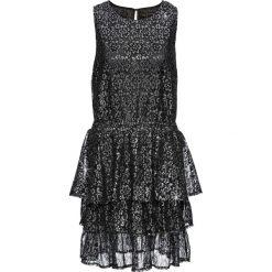 Sukienki hiszpanki: Sukienka z lureksową koronką bonprix czarno-srebrny