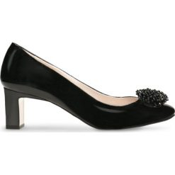 Czółenka ODETTA. Czarne buty ślubne damskie Gino Rossi, z lakierowanej skóry, na szpilce. Za 249,90 zł.
