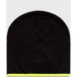 Trussardi Jeans - Czapka. Czarne czapki zimowe męskie marki Trussardi Jeans, na zimę, z dzianiny. Za 169,90 zł.