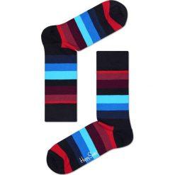 Happy Socks - Skarpety Stripe. Niebieskie skarpetki męskie marki Quiksilver, z materiału, sportowe. W wyprzedaży za 27,90 zł.