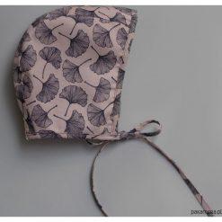 Czapeczka bonnetka miłorząb. Szare czapeczki niemowlęce Pakamera, z bawełny. Za 79,00 zł.
