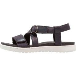 Ecco FLORA Sandały black. Czarne sandały chłopięce ecco, z materiału. Za 379,00 zł.