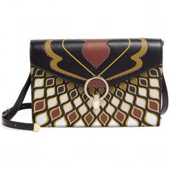 Torebka ze wzorem - (S)27 x (W)18,5 x (G)1 cm. Brązowe torebki klasyczne damskie Tosca Blu, w paski, z materiału. W wyprzedaży za 389,95 zł.
