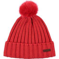 Barts - Czapka Linda. Czerwone czapki zimowe damskie marki Barts, na zimę, z bawełny. W wyprzedaży za 99,90 zł.