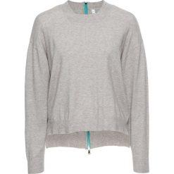 Sweter z zamkiem bonprix jasnoszary melanż. Szare swetry klasyczne damskie marki bonprix. Za 79,99 zł.